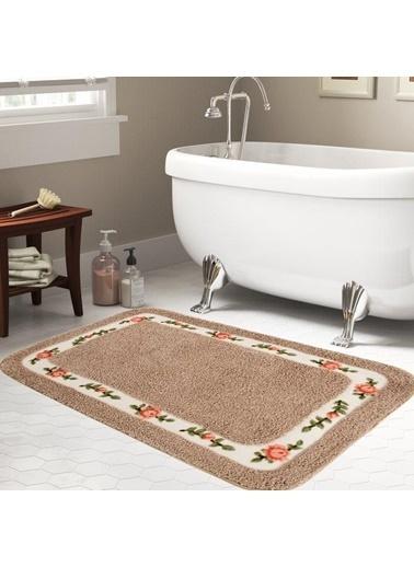 Giz Home Gül Banyo Paspası 70X120 Brown Renkli